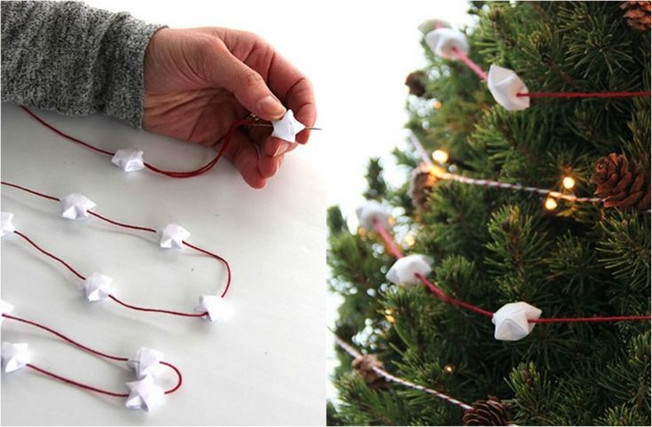 Garland a karácsonyfa jártál csillag