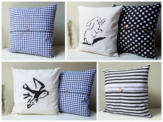 New shop items and a give away...  #Etsy #Bunny #Rabbit #Mouse #Bird #Pillow #Cushion