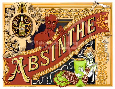 Absinthe Label: This is the drink of choice in the 'Perfect drug' video (Ref: Perfect drug video) and will be used as a prop in my photo shoot. Rather than spending a large amount of money on an actual bottle of Absinthe I will use an empty bottle, fill it with glow stick liquid and print off the label to stick on the bottle. A small amount of the liquid will also be poured into the goblet (Ref: Clear Goblet)