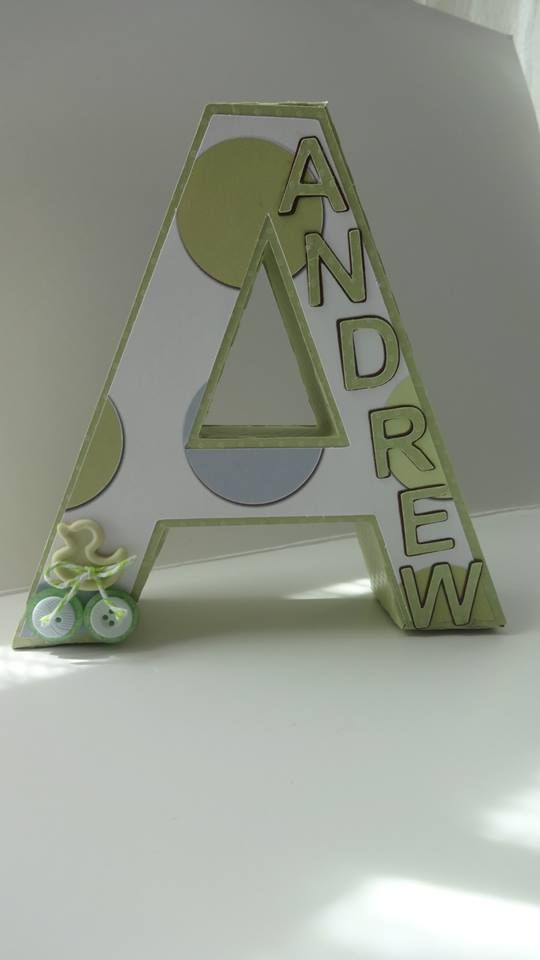 3D Letters Baby Room Decor #SVGCUTS
