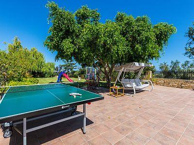 Rethymno villa rental - Ping pong table available!