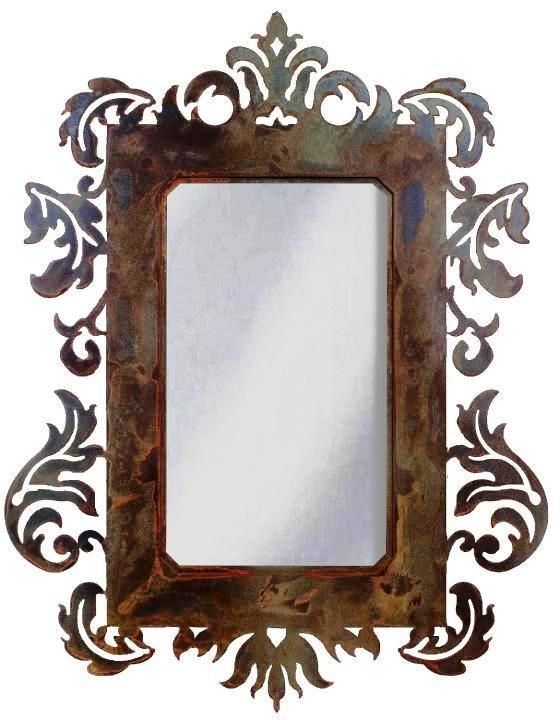 Damask Mirrors 70 best wrought iron mirrors images on pinterest mirrors home wrought iron mirror damask style mirror with rust patina sisterspd