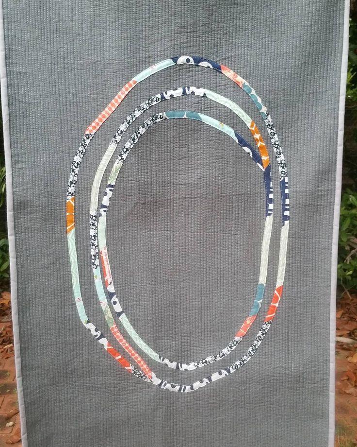 Simone Symonds @pressedtothedarkside quilt for the Umbrella Prints Trimmings Challenge 2016. Made with one packet of Umbrella Prints fabric Trimmings www.umbrellaprints.com.au