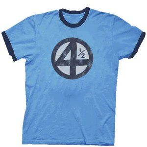 Fantastic Four 4.5 4 1/2 Scott Pilgrim Distressed Carolina Blue Adult T-shirt