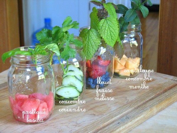 eaux vitaminées maison
