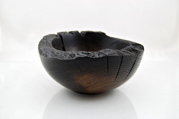 Czasami trzeba szukać ładnego kawałka drewna w nietypowych miejscach. Miska dębowa z odrzańskiego pala. Eiche / Oak