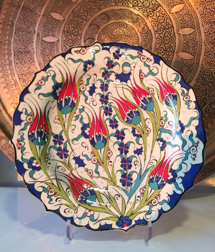 """TURKISH CERAMIC PLATE, 30 cm(11.8""""), EXCLUSIVE"""