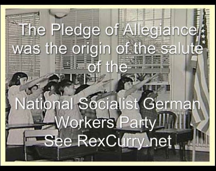 Rex Curry's discovery that the Pledge of Allegiance was the origin of Nazi salutes and Nazi behavior is explained in this video.