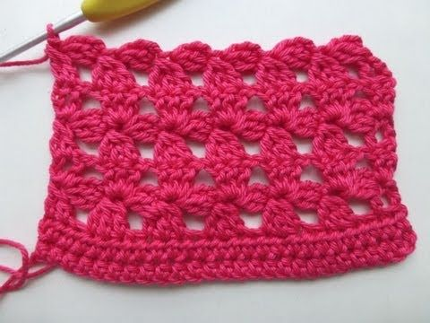 "Crochet with eliZZZa * Crochet Stitch ""Flower Mesh"""