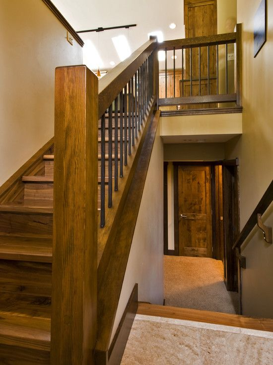 """Like these stairs. If I gave up my coat closet it would open up the entry much more.   """"Split Entry Home Design, Pictures, Remodel, Decor and Ideas - page 2"""""""