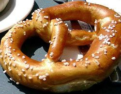 Bettina's Bretzeln: Bettina is sharing her Bretzel recipe! If you like Bretzel - please try these. Very tasty, and a perfect side-dish for your dinner. Goes along well with a cold beer! Enjoy with mustard, butter or dry. I freeze these and reheat. My kids love them when buttered and with cinnamon and sugar too!