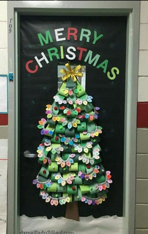 Classroom Christmas Tree Decoration ~ Best classroom doors n more images on pinterest