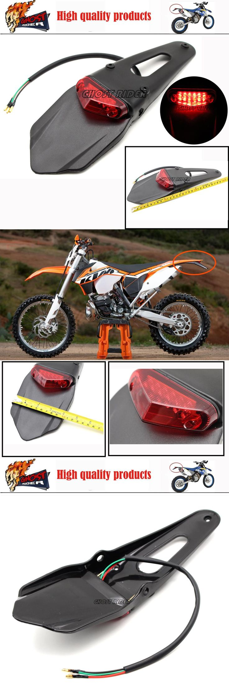 [Visit to Buy] Polisport Motorcycle LED Tail Light&Rear Fender Stop Enduro taillight MX Trail Supermoto KTM CR EXC WRF 250 400 426 450 #Advertisement