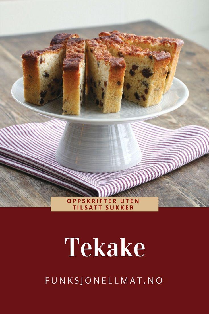 Tekake - Funksjonell Mat | Oppskrift uten sukker | Kakeoppskrift | Sunn dessert | Tea cake | Sugar free cake