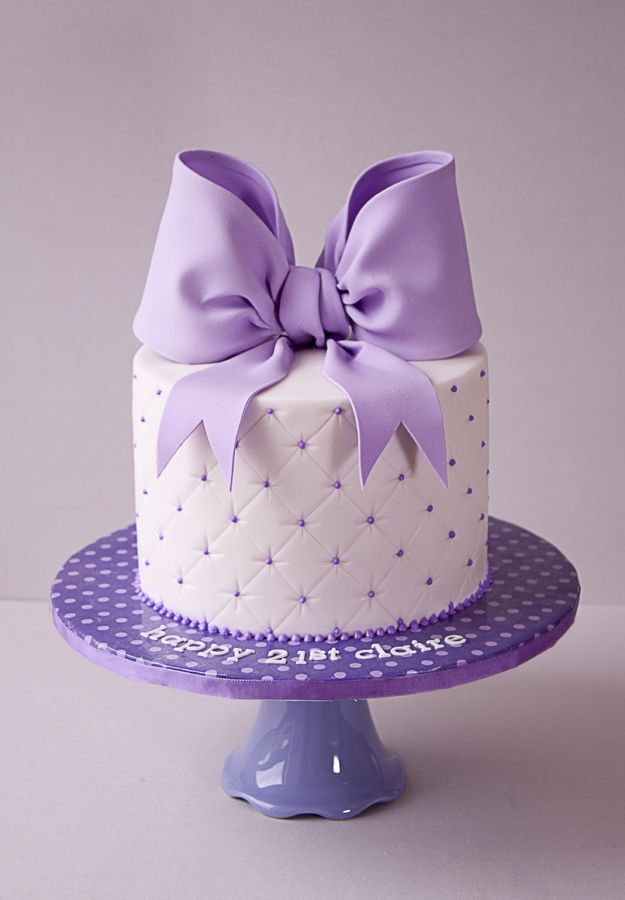 Birthday Cake Color Lila y Violeta Pinterest Cakes ...