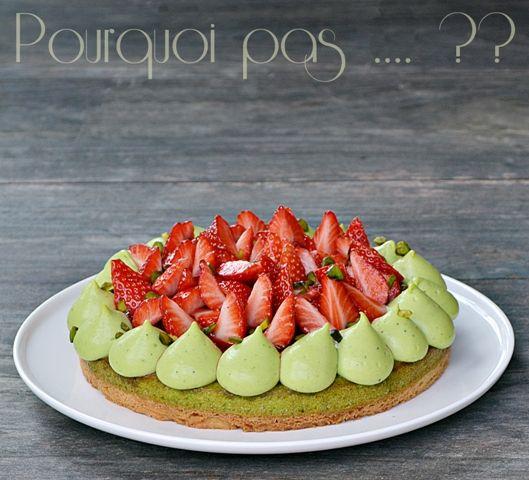Pourquoi pas .... ??: Gat-Ô fraises / pistache