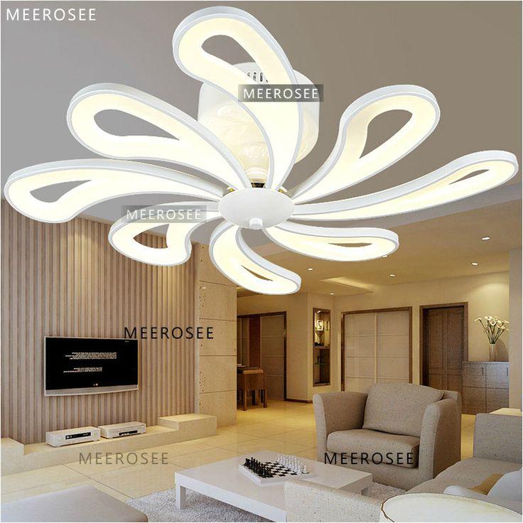 Mais recente estilo de iluminação acrílico Design de luxo ventilador de teto moderna luminária coleção MD3162