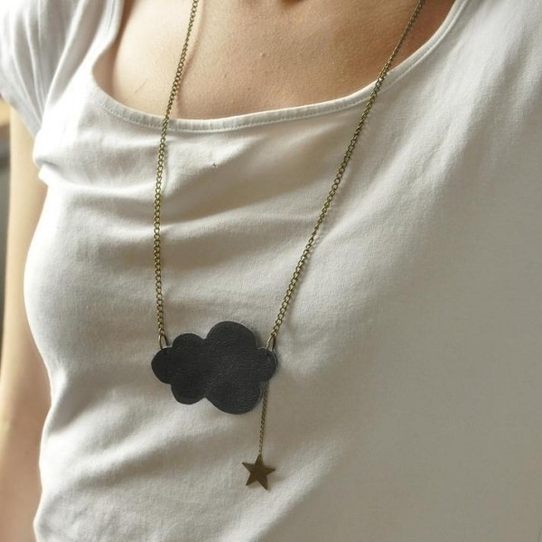 cloud & star necklace