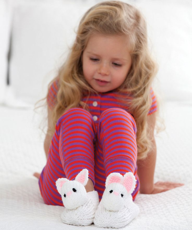 Treat a child to warm feet with these adorable bunny slippers! These won't take long to knit and will create memorable moments for the lucky kid that receives them.