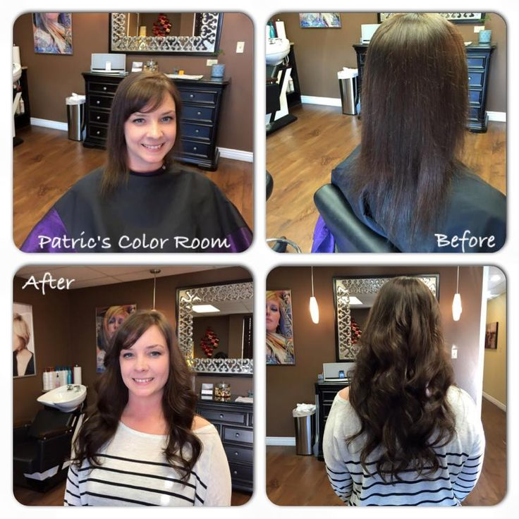 Before And After 18 Inch Donna Bella Hair Extensions