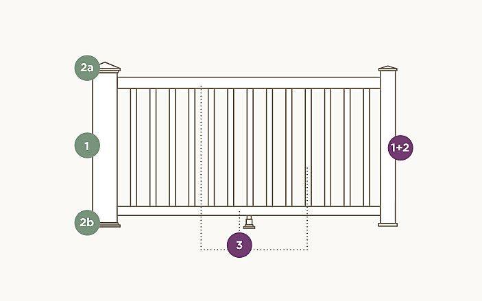 trex reveal railing components diagram