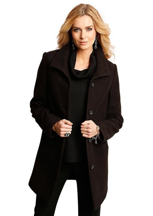 Manteau court en laine noir - atelier goldner schnitt