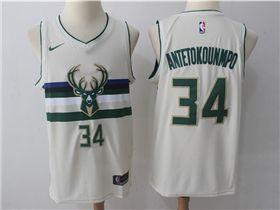 70eda62809c Milwaukee Bucks  34 Giannis Antetokounmpo Cream City Edition Swingman Jersey