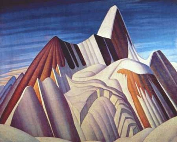 'Mount Robson' by Group of Seven Canadian painter Lawren S. Harris (1885-1979). via Bert Christensen