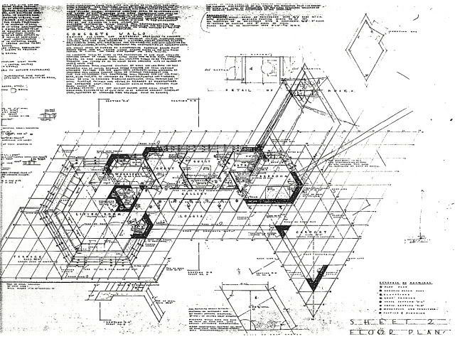 Image result for frank lloyd wright plan clinton della for Honeycomb house floor plan