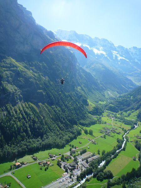 Paragliding in Switzerland.