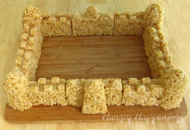 Jericho can fall (and then be eaten) with these rice krispie treats formed with sand castle molds.