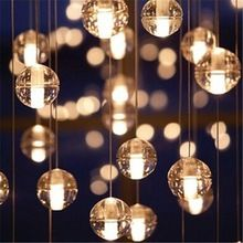 Bocci LED Crystal Glass Ball Pendant Lamp Meteor Rain Meteoric Shower Stair Bar Droplight Chandelier Lighting AC110-240V(China (Mainland))