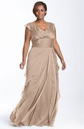 Adrianna Papell Iridescent Chiffon Petal Gown (Plus)  Lovely for a wedding too