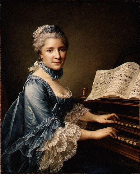 """François Hubert Drouais' 1757 painting of the French actress Madame Charles Simon Favart (Marie Justine Benoîte Duronceray)"""
