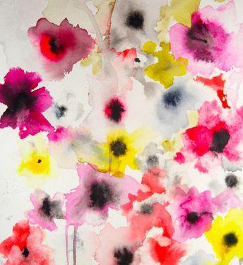"Posies II - Saatchi Online Artist Karin Johannesson; Painting, ""Posies II"" #art"