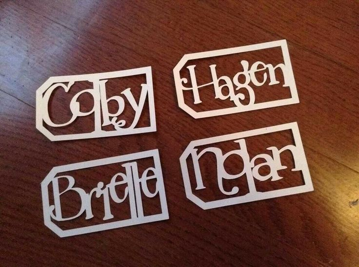 Personalized gift tags.  Brilliant!