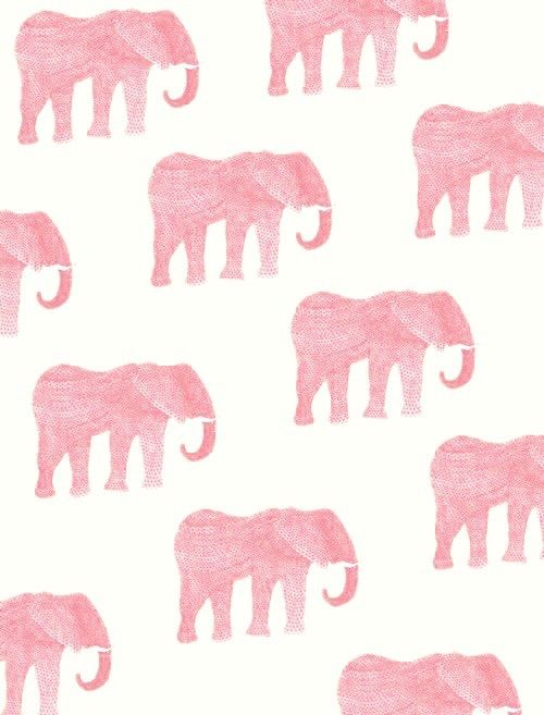 wallpaper, elephant, and pink image