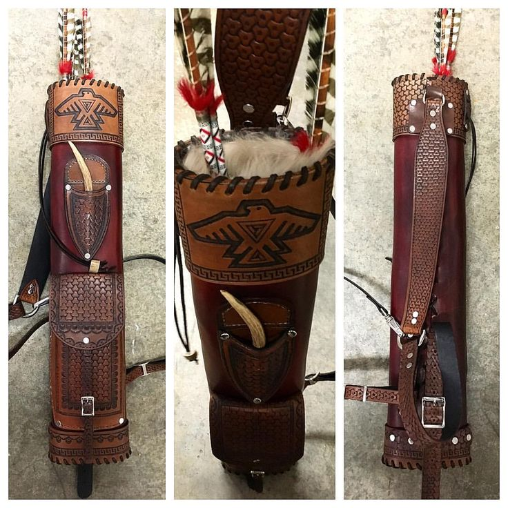 "Spartan Hunter on Instagram: ""SPARTANHUNTER custom leather back quiver"""