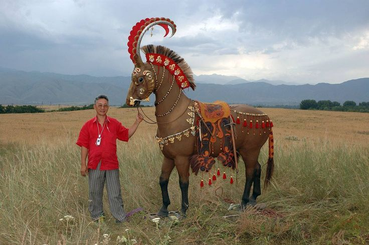 Reconstruction of horse trappings from Scythian royal burials, 5th century BC