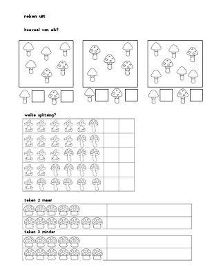Rekenwerkbladen voor groep 3 - thema herfst