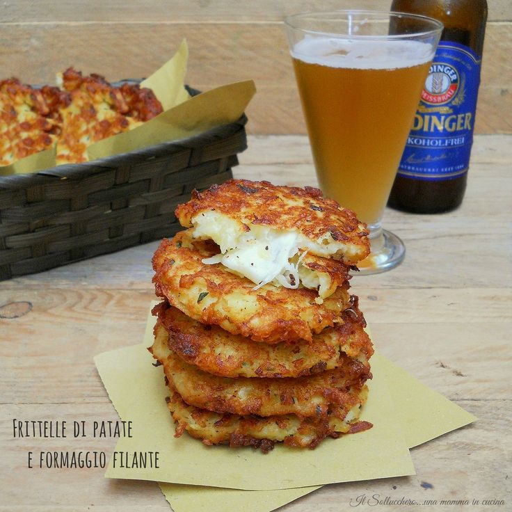 Frittelle+di+patate+e+formaggio+filante