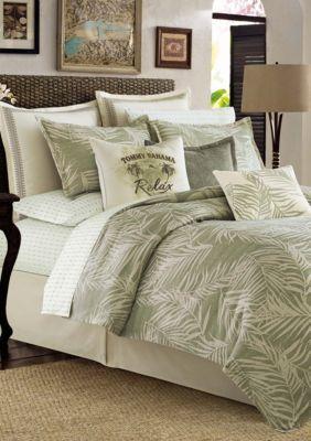 Tommy Bahama  Palms Away Comforter Set - Green - Queen