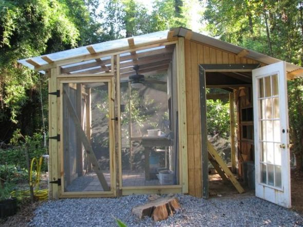 (Hen house Greenhouse Duplex Y.L. Bordelon copyright.) Very helpful pictures of EE's on here.