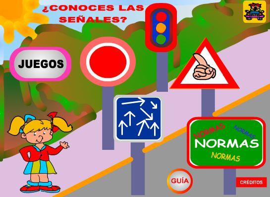 De camino al cole seguimos las señales de trafico para llegar adecuadamente a nuestro destino