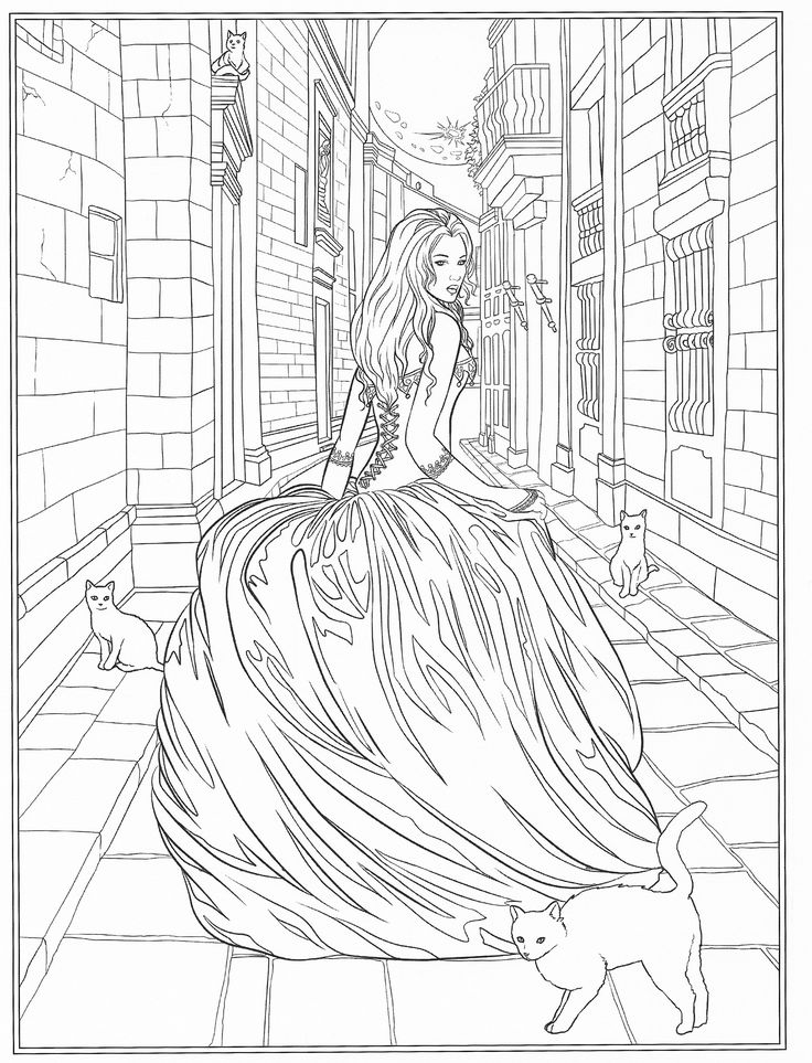 The 2828 best fashion coloring images on Pinterest | Coloring books ...