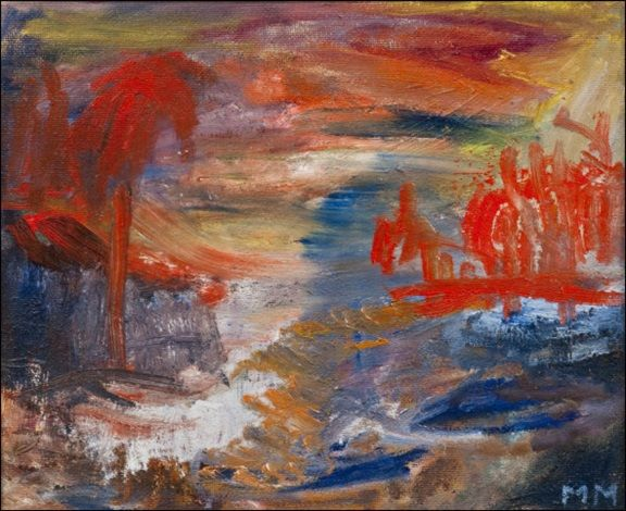 Mauno Markkula: Punainen metsä, öljy levylle, 38x46,5 cm - Artnet