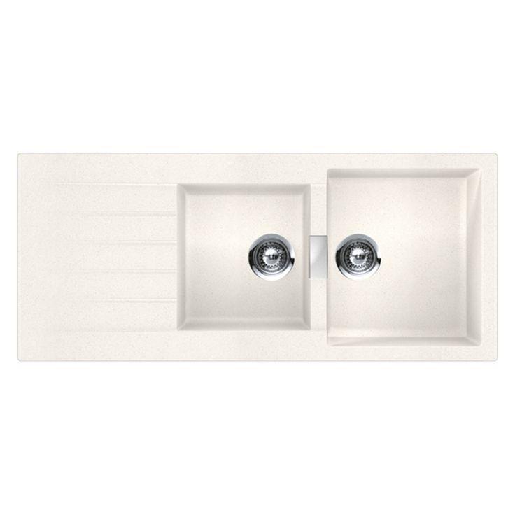 Abey 1.75 Bowl White Granite Schock Sink | Bunnings Warehouse