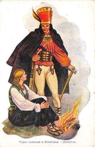 B65161-Typy-ludowe-Podhala-Zbojnik-couples-costumes-slovakia