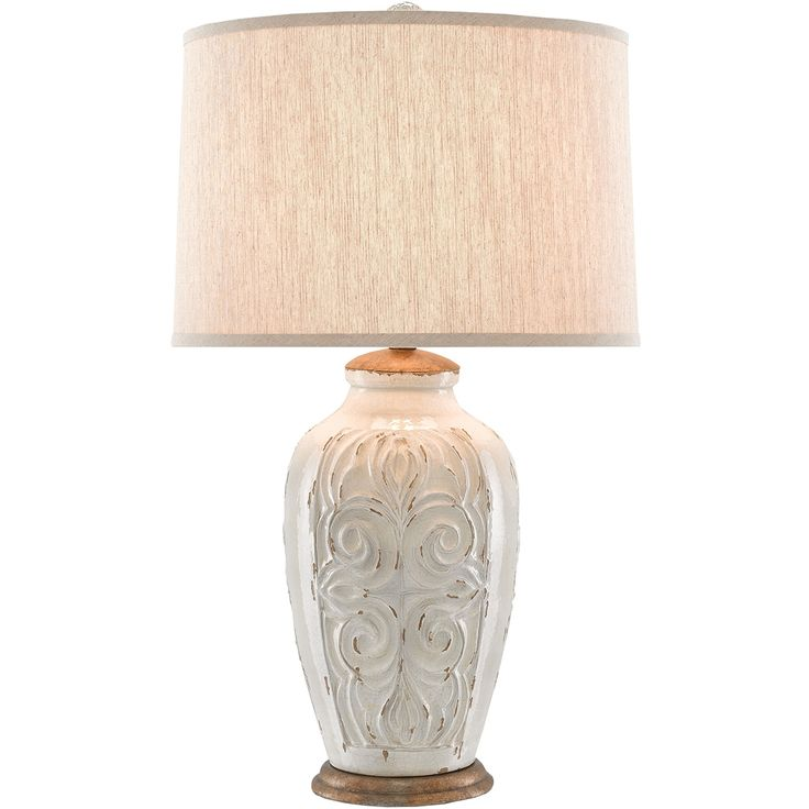 french provence lighting. french provenance table lamp - white crackle glaze provence lighting n