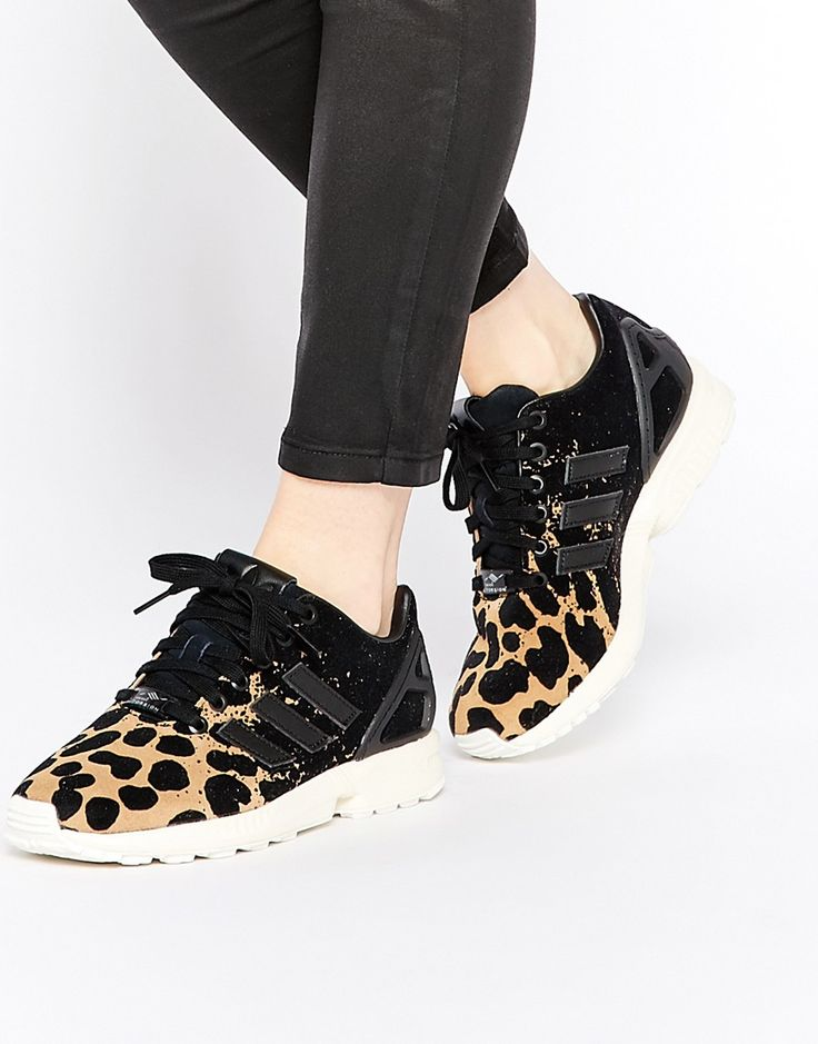 Buy Women Shoes / Adidas Originals Zx Flux Ombre Animal Print Trainers